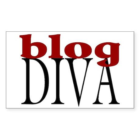 Blog Diva Rectangle Sticker