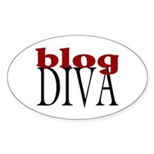 Blog Diva Oval Decal