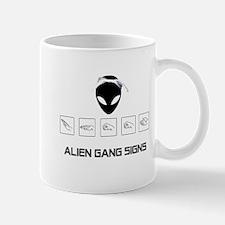 Alien Gang Signs Mug