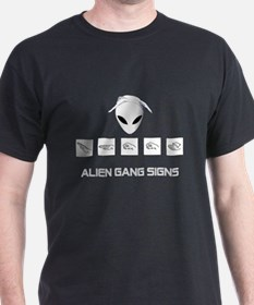 Alien Gang Signs T-Shirt