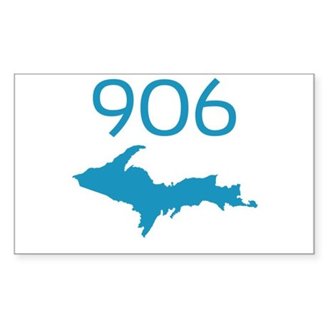 906 4 LIFE Rectangle Sticker
