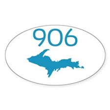 906 4 LIFE Oval Sticker (10 pk)