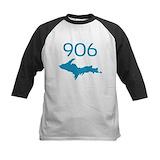 Area code 906 Baseball T-Shirt