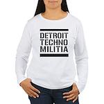 Detroit Techno Militia Women's Long Sleeve T-Shirt