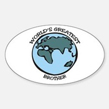 Greatest Brother Oval Decal