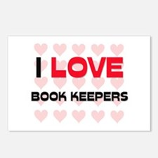 I LOVE BOOK KEEPERS Postcards (Package of 8)