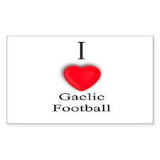 Gaelic Football Rectangle Decal