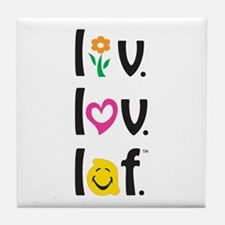 Live Love Laugh Tile Coaster