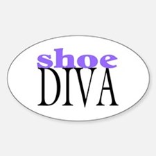 Shoe Diva Oval Decal