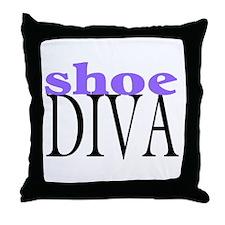 Shoe Diva Throw Pillow