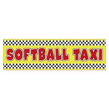 Softball Taxi Bumper Bumper Sticker
