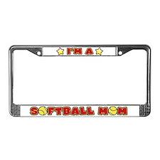 Softball Mom License Plate Frame