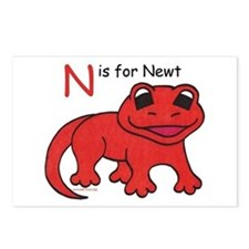 N is for Newt Postcards (Package of 8)
