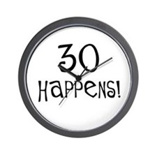30th birthday gifts 30 happens Wall Clock