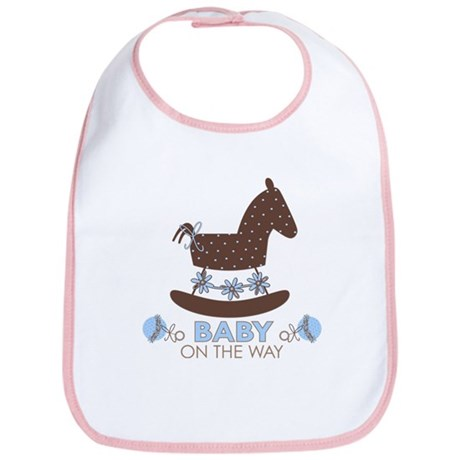 Baby Boy Rocking Horse Bib