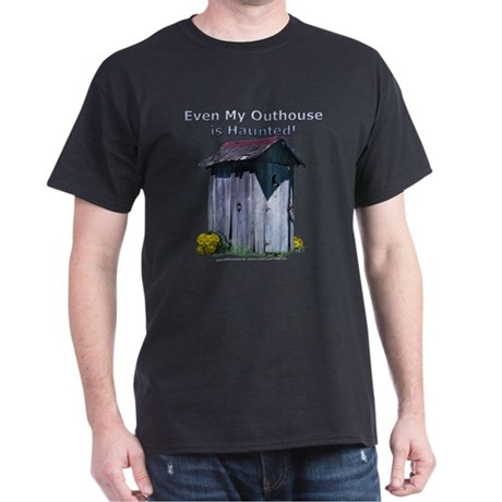 Haunted Outhouse Black T-Shirt