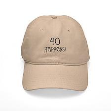 40th birthday gifts 40 happens Baseball Cap