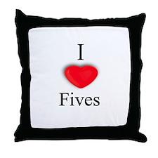 Fives Throw Pillow