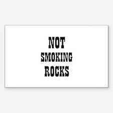 NOT SMOKING ROCKS Rectangle Decal
