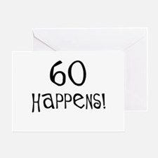 60th birthday gifts 60 happens Greeting Card