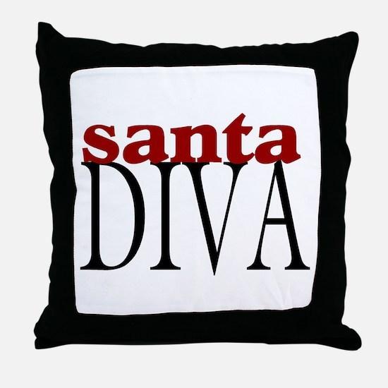 Santa Diva Throw Pillow