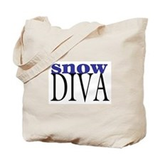 Snow Diva Tote Bag
