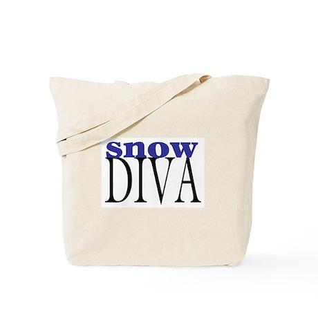 Snow Diva Tote Bag