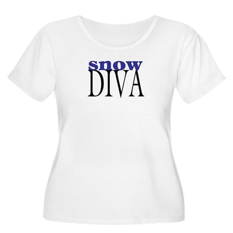 Snow Diva Women's Plus Size Scoop Neck T-Shirt