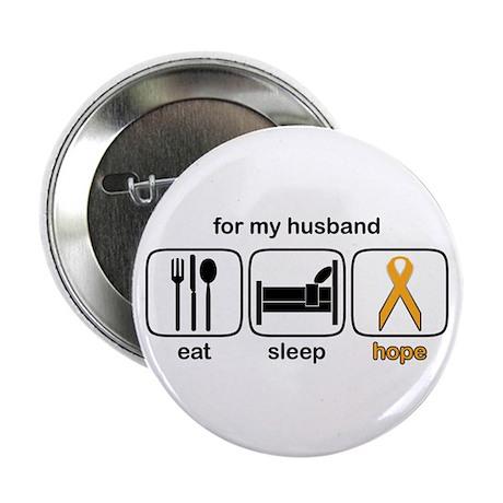 "Husband ESHope Leukemia 2.25"" Button"