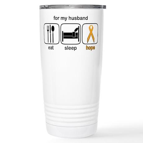 Husband ESHope Leukemia Stainless Steel Travel Mug