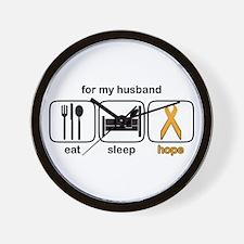 Husband ESHope Leukemia Wall Clock