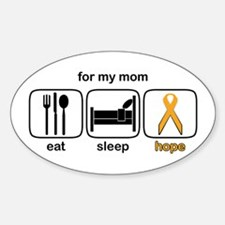Mom ESHope Leukemia Oval Decal