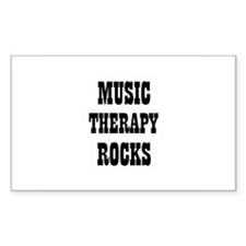 MUSIC THERAPY ROCKS Rectangle Decal