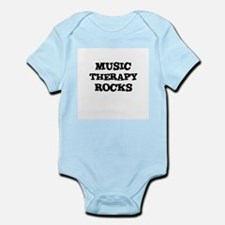 MUSIC THERAPY  ROCKS Infant Creeper