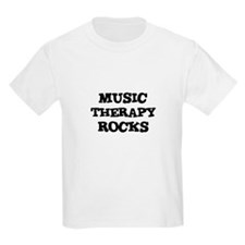 MUSIC THERAPY  ROCKS Kids T-Shirt