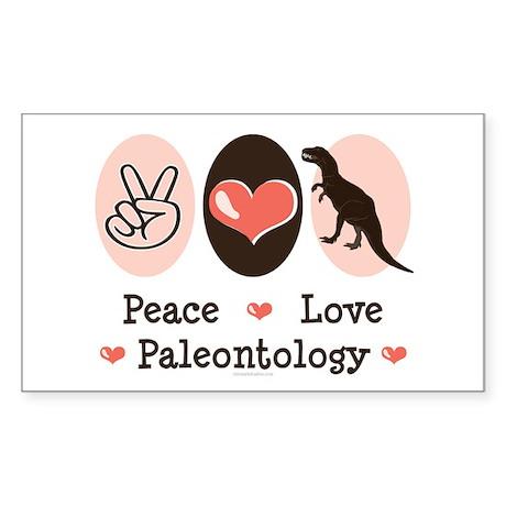 Peace Love Paleontology Rectangle Sticker