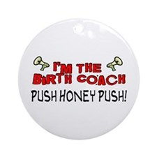 Birth Coach Ornament (Round)