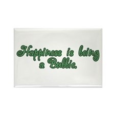 Happiness is being a Bubbie Rectangle Magnet (10 p