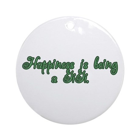 Happiness is being a GiGi Ornament (Round)