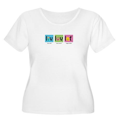 Live Laugh Love T Shirt (Women's Plus Scoop Neck)