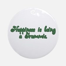 Happiness is being a Grammie Ornament (Round)