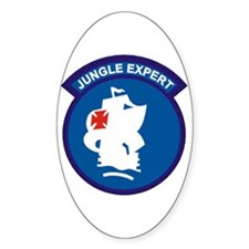 Jungle Expert Oval Decal