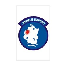 Jungle Expert Rectangle Decal