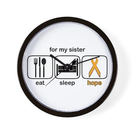 Sister ESHope Leukemia Wall Clock
