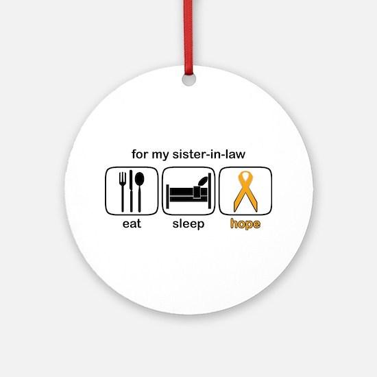 Sister-in-law ESHope Leukemia Ornament (Round)
