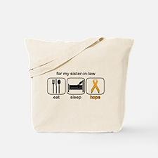 Sister-in-law ESHope Leukemia Tote Bag