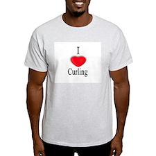 Curling Ash Grey T-Shirt