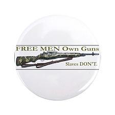 "Free Men own rifles 3.5"" Button (100 pack)"