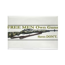 Free Men own rifles Rectangle Magnet
