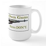 Free Men own rifles Large Mug
